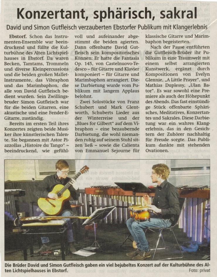 Bericht AZ Duo Gitarre Schlagwerk Ebstorf_180407
